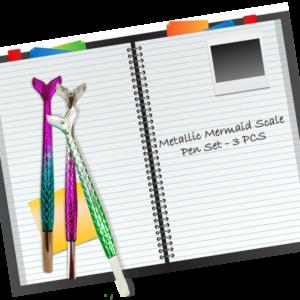 metallic-mermaid-scale-pen-set