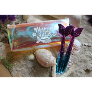 Purple Aqua Mermaid Scale Pen